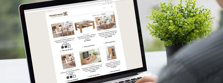 Massivholzmöbel online auf massivraum » massivholzmoebel.de!