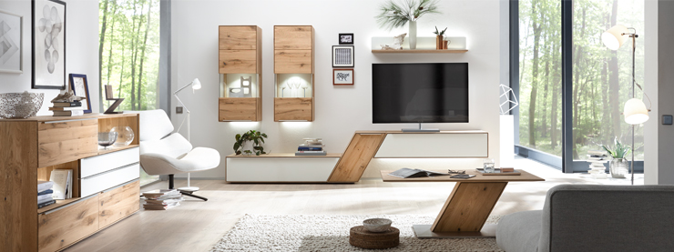 Superior Wohnwand Wohnzimmer Massivholzmöbel Decker